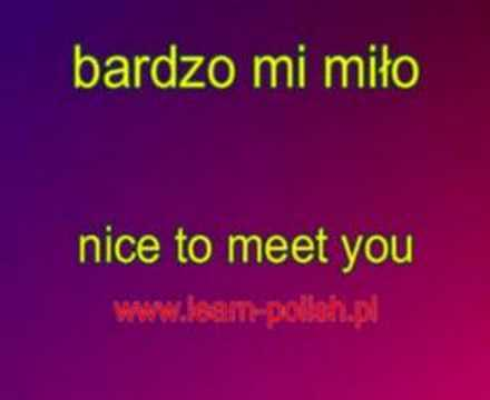 Nice to meet you in Polish.