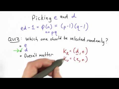 Picking E And D Solution - CS387 Unit 4 - Udacity