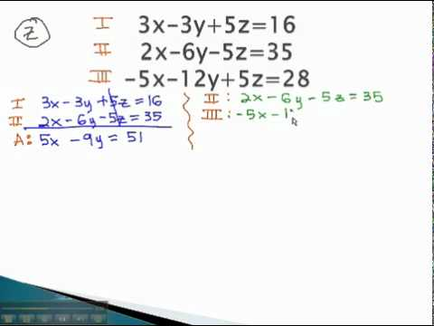 Systems of 3 Variables - Simple Part 1 - YouTube.mp4