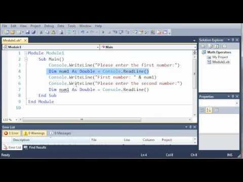 Visual Basic Tutorial - 12 - Creating A Basic Calculator