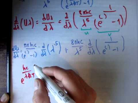 Wiens's displacement law proof