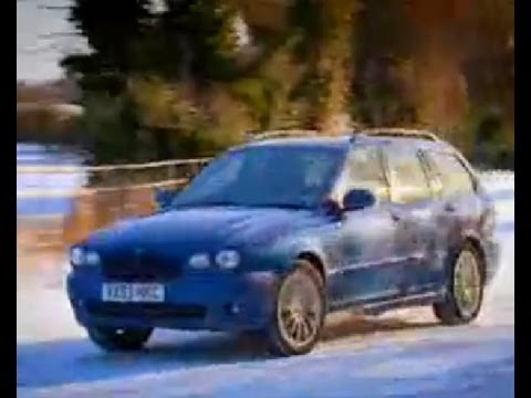 Top Gear - X Type Jaguar in the snow - BBC
