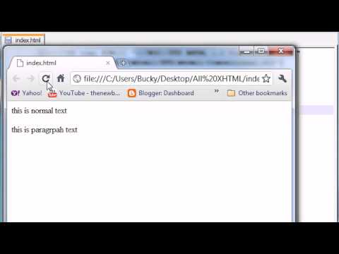 XHTML and CSS Tutorial - 16 - Intro to CSS