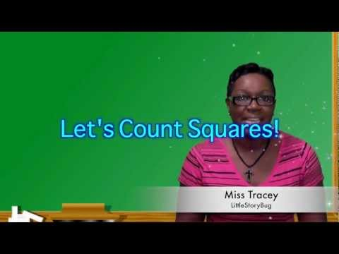 Preschool Learning - Counting Squares - Littlestorybug