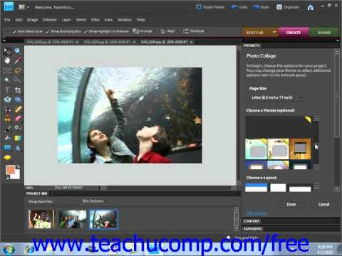 Photoshop Elements 9.0 Tutorial Creation Wizards Adobe Training Lesson 16.2
