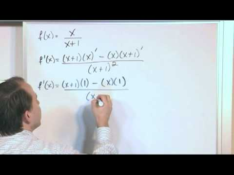 Quotient Rule of Derivatives (Calculus 1 - MathTutorDVD.com)