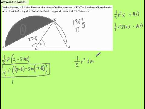 Trig exam question showing-proof style question Core 2 Trig