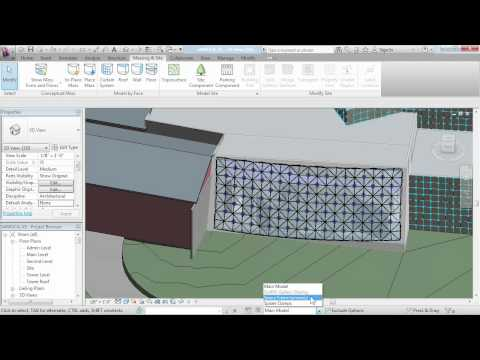 Revit Architecture tutorial: Working with curtain panels | lynda.com