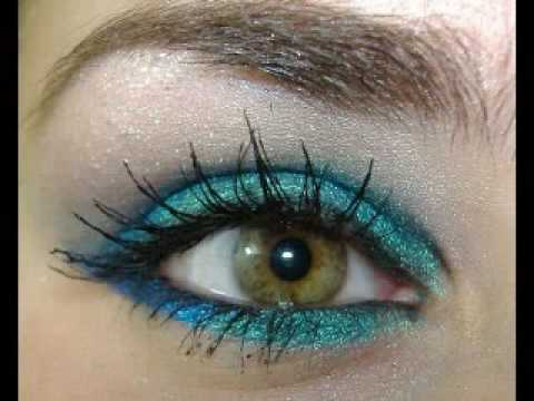 SEXY MERMAID EYES experiment with MAC & Beverly hills makeup