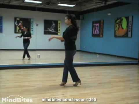 Salsa Dancing - Salsa Footwork: Double Kick Grapevine Flairs (on2)