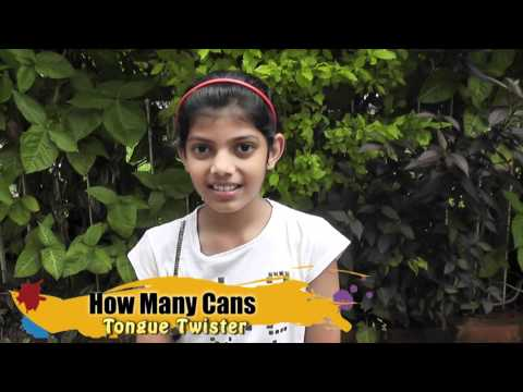 Tongue Twister  - How Many Cans
