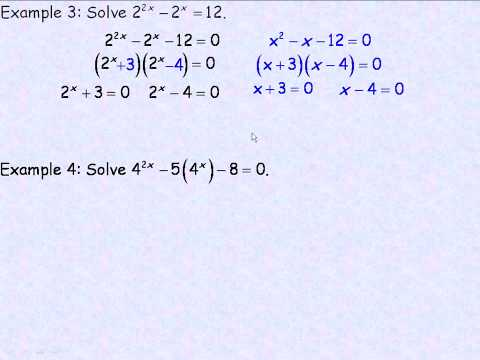Techniques For Solving Exponential Equations Part 2