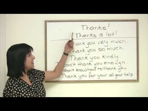 Polite English - 8 ways to say Thank You
