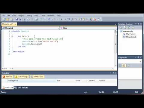 Visual Basic Tutorial - 6 - Comments And Whitespace