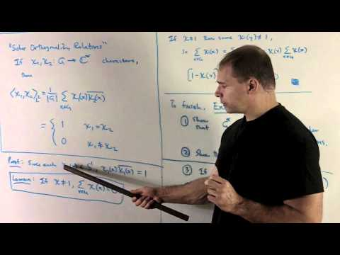 RT7.1:  Finite Abelian Groups:  Character Orthogonality