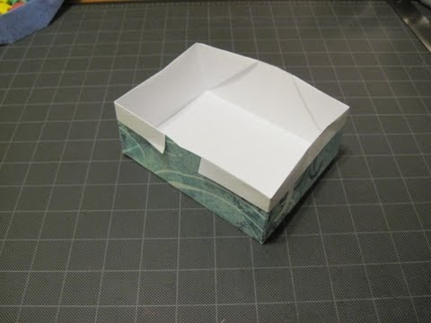 Origami rectangle box from Letter size paper.