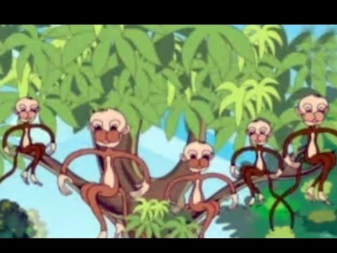 Nursery Rhyme - Five Little Monkeys - English - Animated Rhyme For Children