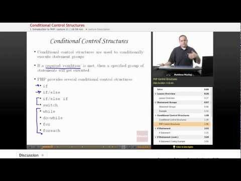 PHP: Conditional Control Structures