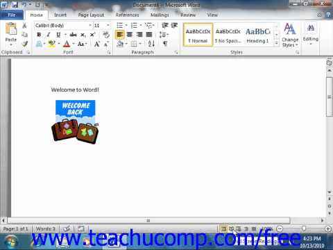 Word 2010 Tutorial The Document View Buttons Microsoft Training Lesson 1.11