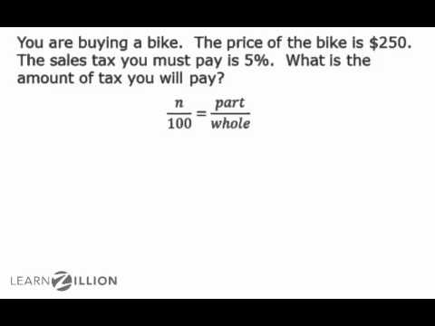 Solve problems with taxes using proportions - 7.RP.3