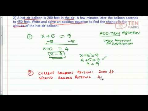 Solve Addition Equations