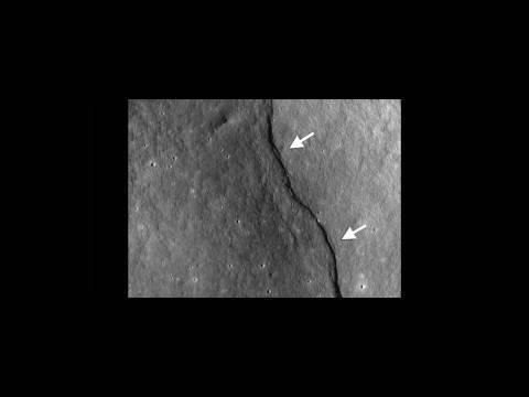 "NASA   LRO Reveals ""Incredible Shrinking Moon"""
