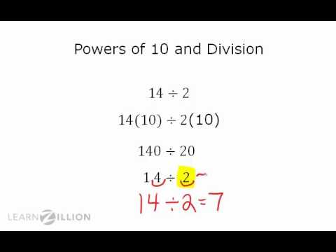 Rewrite decimal division problems using powers of 10 - 7.NS.2