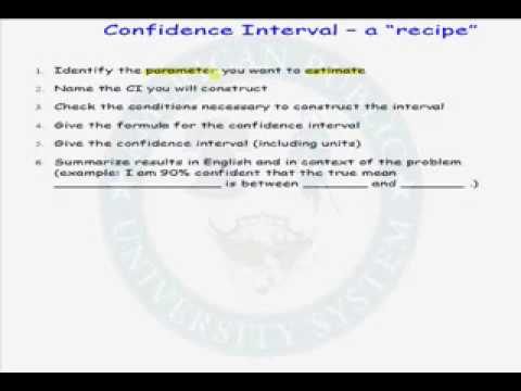 Recipe for a Confidence Interval