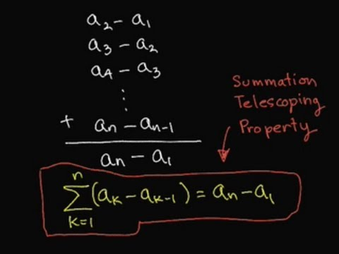Summation Telescoping Property