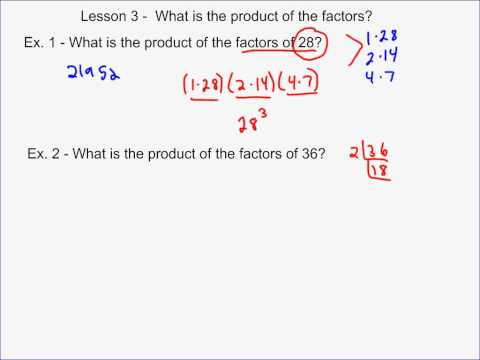 What is the Product of Factors?