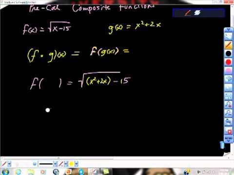 Precalculus Composite Functions and Domain College Math