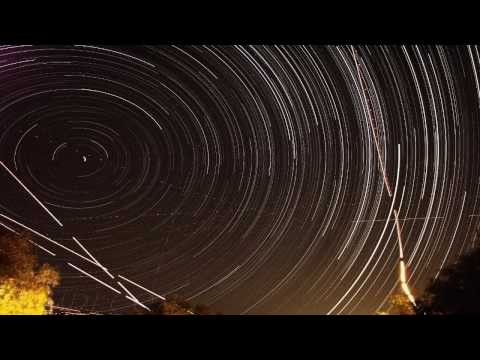 Star Spin - Earth Rotates Under Starry Sky 720p HD Composite Time Lapse