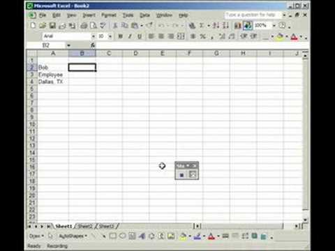 Record and use a Macro - Excel