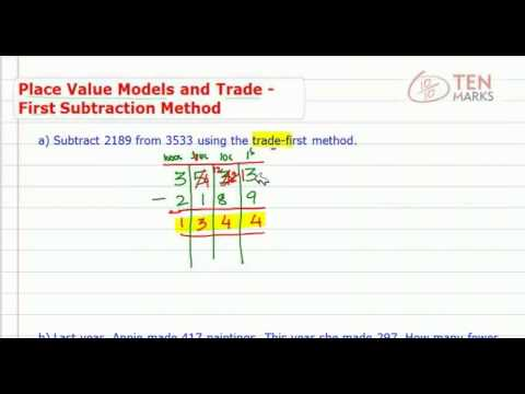 Subtract using Models and Trade First Method