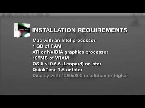 System Requirements for Final Cut Pro 7