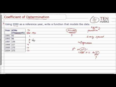 Using Coefficient of Determination