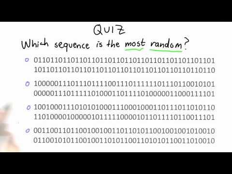 Randomness Quiz - CS387 Unit 2 - Udacity