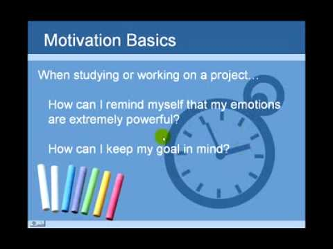 Student Motivation 3  Pause and Take Care of Your