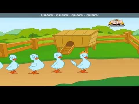 Six Little Ducks with Lyrics - Nursery Rhyme