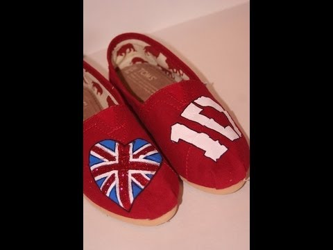One Direction Painted Shoes | ShowMeCute | DIY