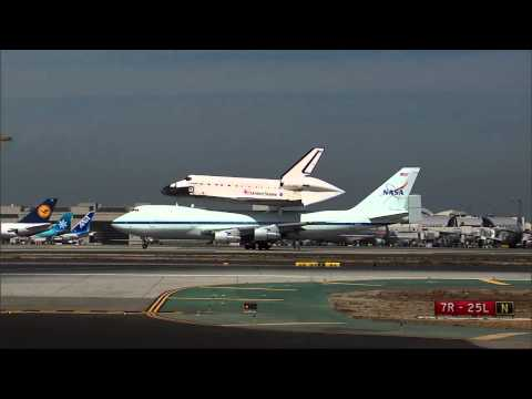 Space Shuttle Endeavour Lands in Los Angeles