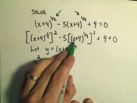 Solving Fancy Quadratics - Example 3