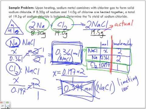 Percentage Yield Sample Problem #2 Part 2