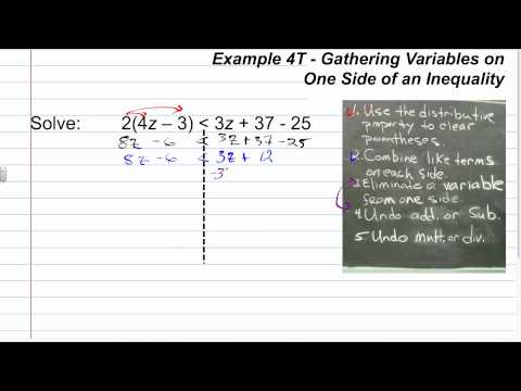 Solving Mulit-Step Inequalities Part 2 | Algebra How To Help