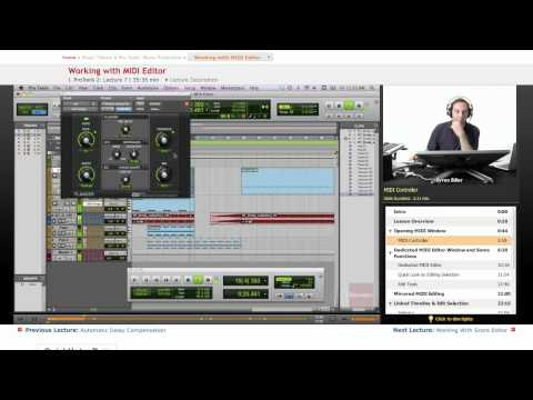 Pro Tools: Working with MIDI Editor