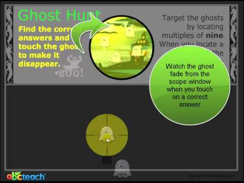 SMARTBoard Notebook Lesson - Ghost Hunt