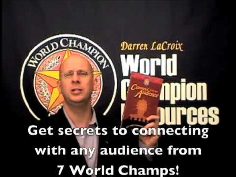 Speakers, What if you could connect with any audience? Learn how 7 World Champions connect?