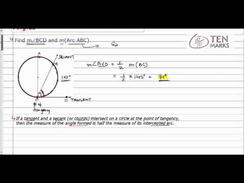 Tangent-Secant and Tangent-Chord Angles