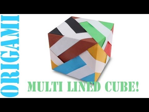 Origami Daily - 422: 3D Multi Lined Cube - TCGames [HD]