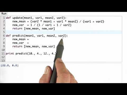 Predict Function - CS373 Unit 2 - Udacity
